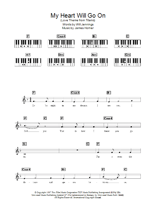 Sheet Music Digital Files To Print - Licensed Celine Dion Digital ...