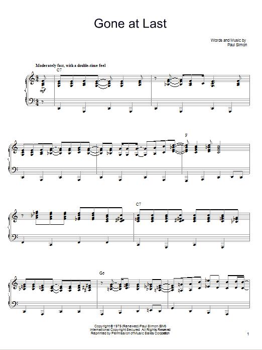 Sheet Music Digital Files To Print - Licensed Paul Simon Digital ...