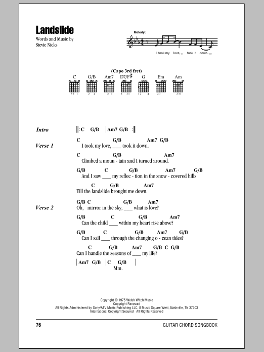 Sheet Music Digital Files To Print - Licensed Fleetwood Mac Digital ...