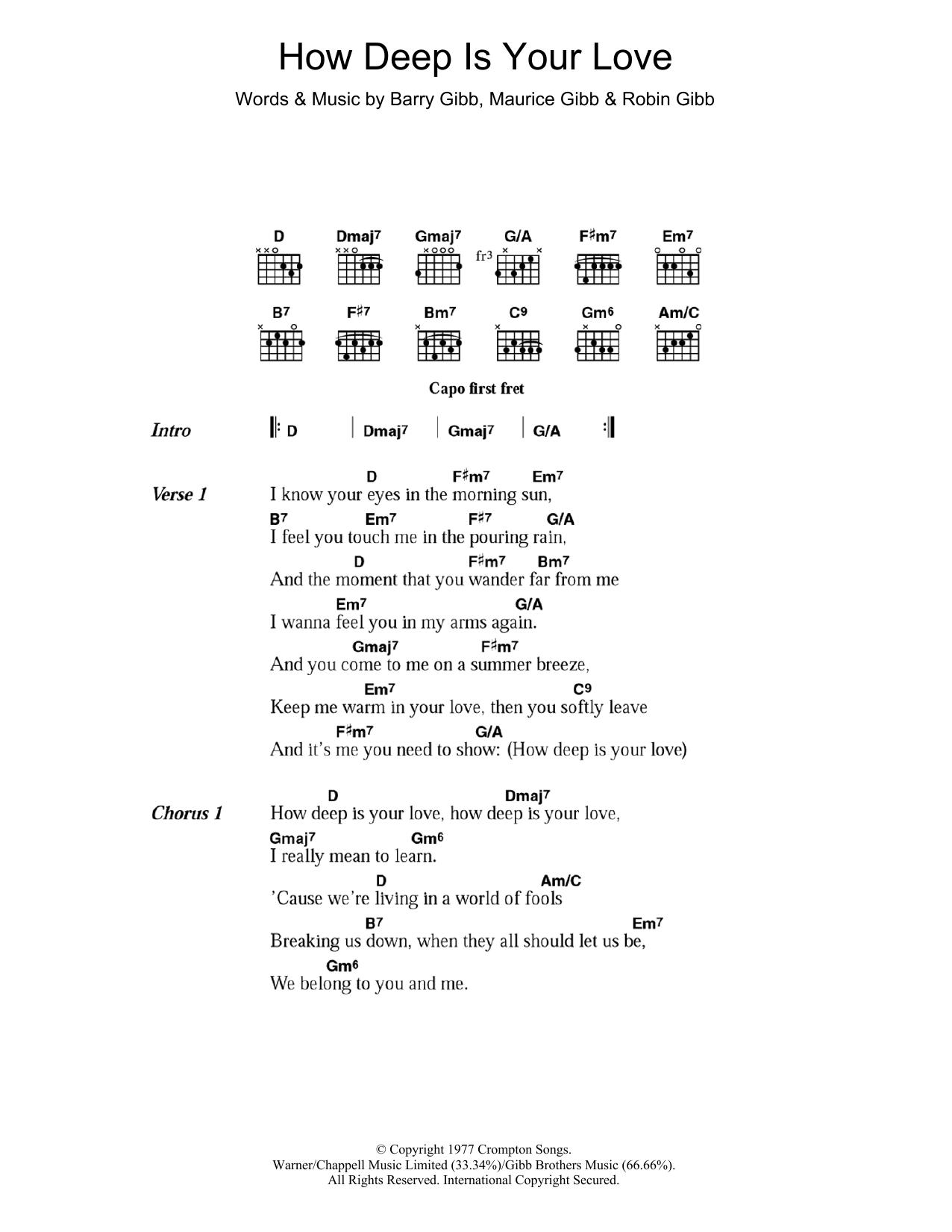 Disco Music - Guitar Chord at Stanton\'s Sheet Music