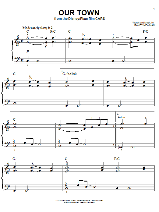 Our Town Sheet Music