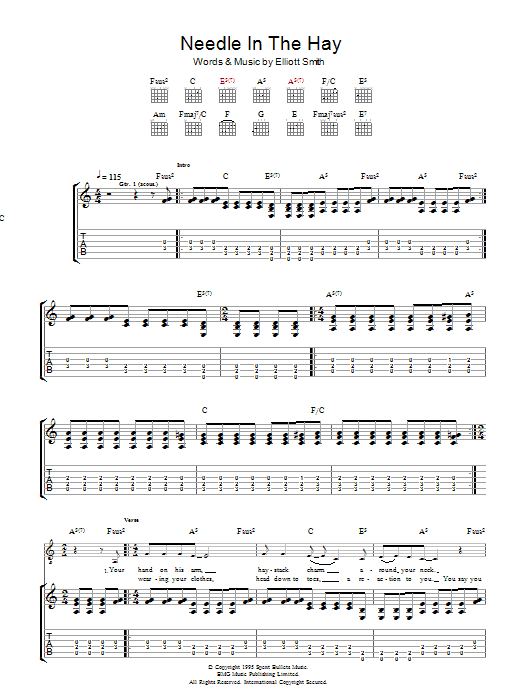 needle in the hay song analysis Elliott smith - needle in the hay (tab) tab (ver 2) by elliott smith with free online tab player, speed control and loop correct version added on august 29, 2004.