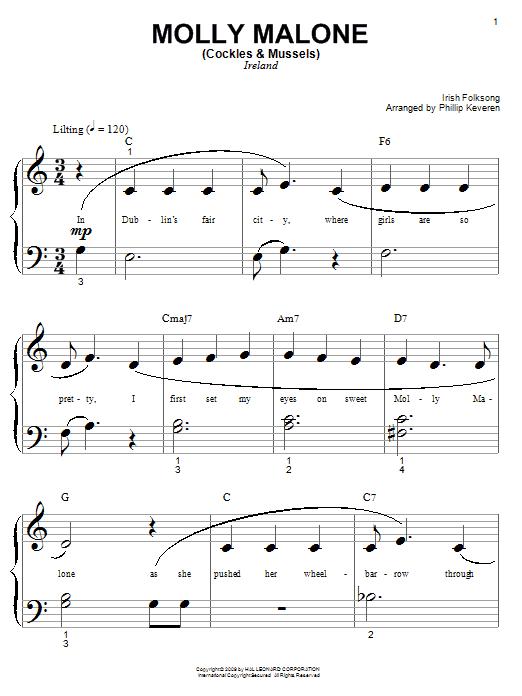 Partition piano Molly Malone (Cockles & Mussels) de Phillip Keveren - Autre