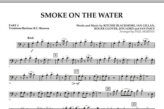 Smoke on the Water - Pt.4 - Trombone/Bar. B.C./Bsn. - Sheet Music ...