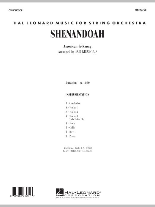 Shenandoah (COMPLETE) sheet music for orchestra by Bob Krogstad