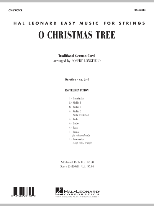 O Christmas Tree (COMPLETE) sheet music for orchestra by Robert Longfield