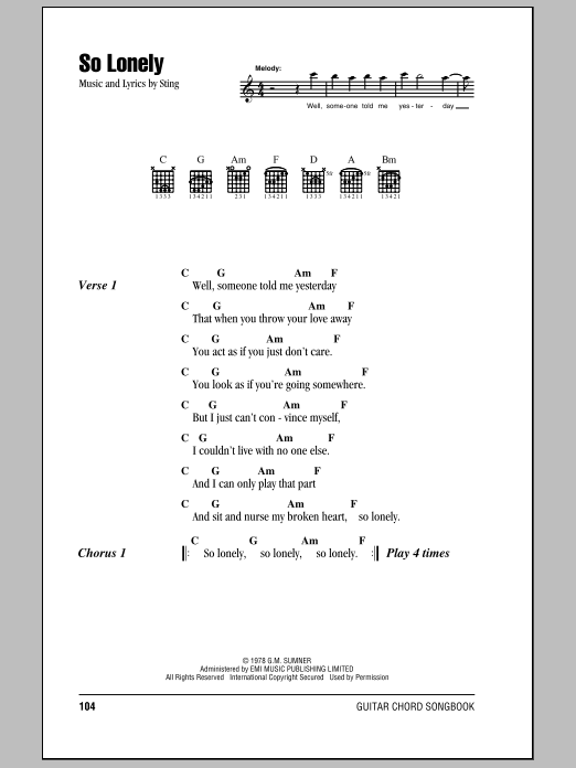 Sheet Music Digital Files To Print Licensed The Police Digital