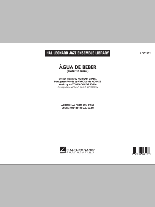 Agua de Beber (Water to Drink) sheet music for jazz band (full score) by Antonio Carlos Jobim