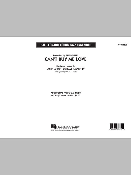 Can't Buy Me Love (COMPLETE) sheet music for jazz band by Rick Stitzel