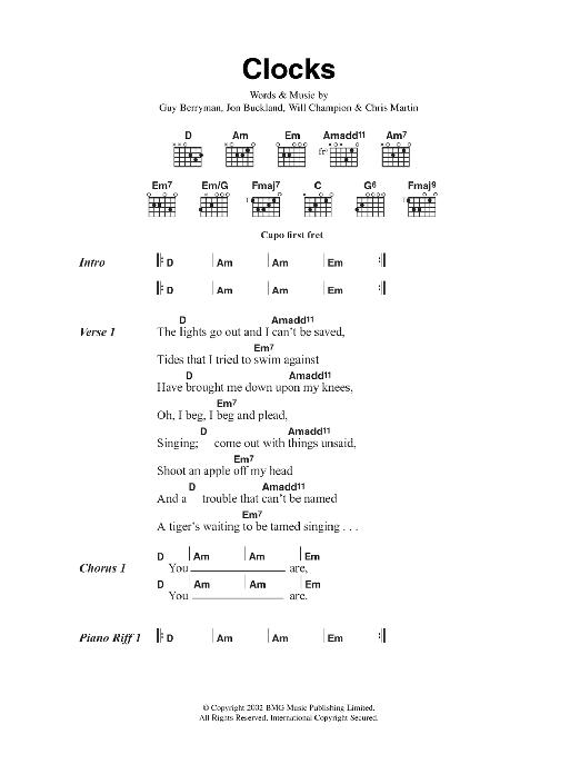Ukulele u00bb Yellow Ukulele Chords - Music Sheets, Tablature, Chords and Lyrics
