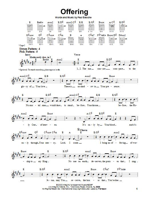 Hosanna (Praise Is Rising) - Paul Baloche Sheet Music ...