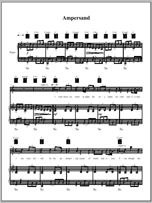 Sheet Music Digital Files To Print Licensed Amanda Palmer Digital