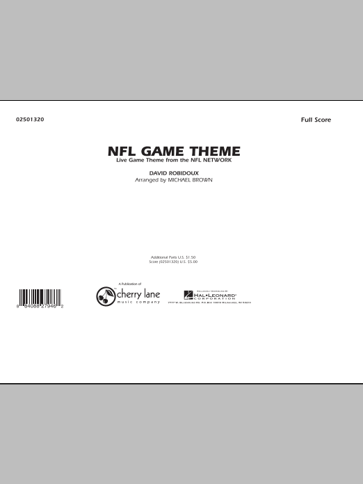NFL Game Theme (COMPLETE) sheet music for marching band by Dave Robidoux