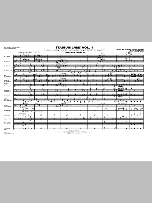 Stadium Jams - Vol. 1 (COMPLETE) sheet music for marching band by Michael Brown