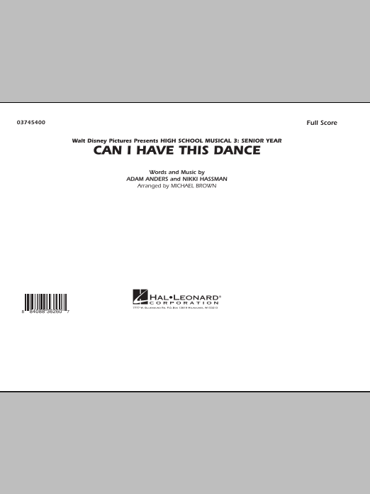 Can I Have This Dance (from