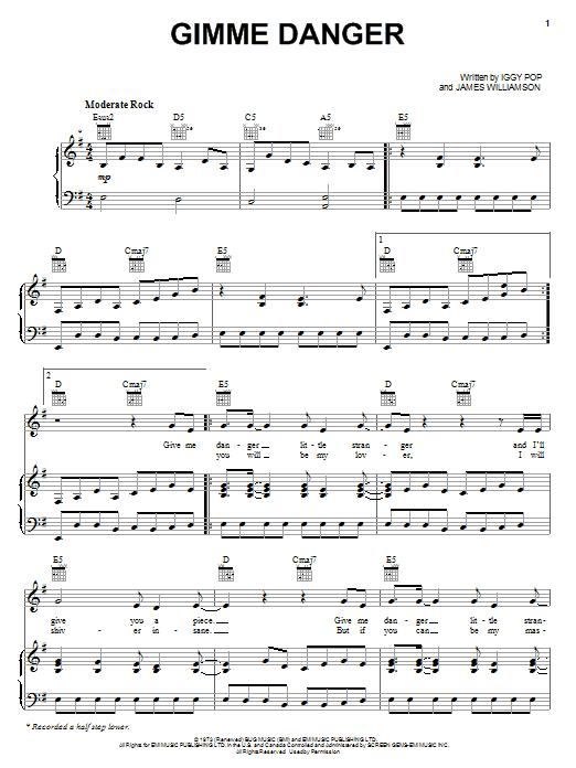 Sheet Music Digital Files To Print Licensed The Stooges Digital