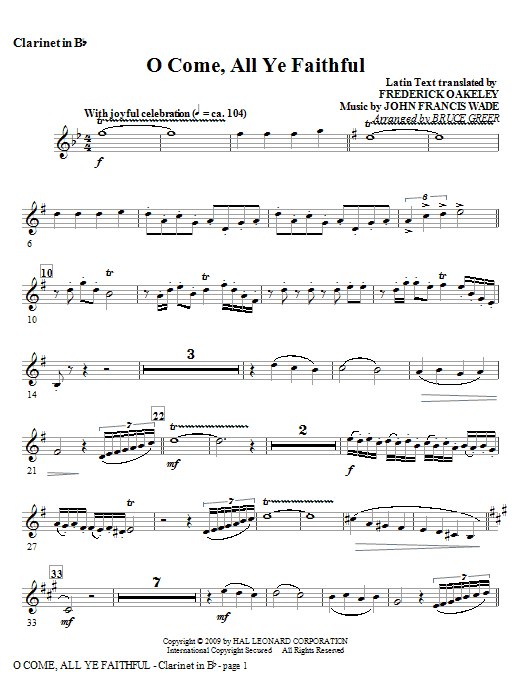 O Come All Ye Faithful (Instrumental)