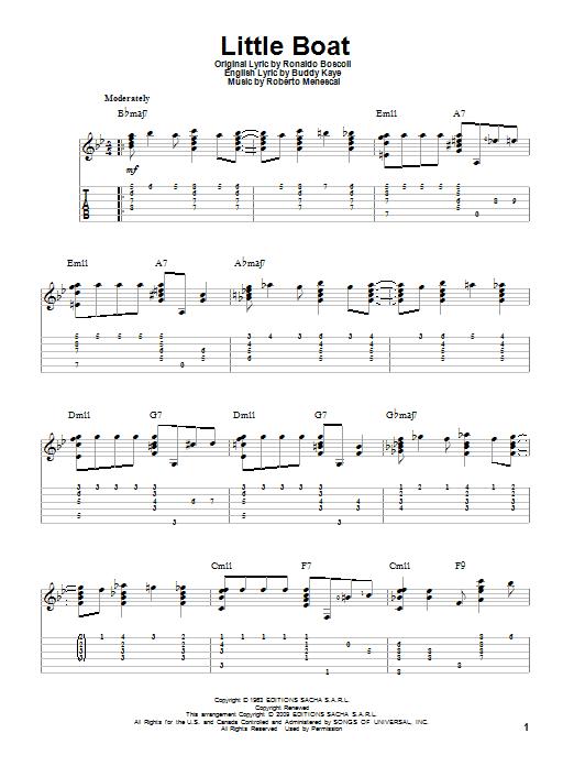 Tablature guitare Little Boat de Buddy Kaye - Tablature Guitare