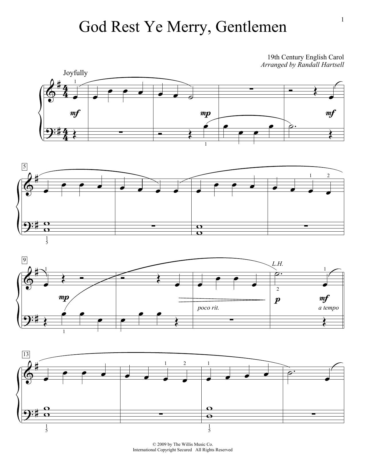 God Rest Ye Merry, Gentlemen : Sheet Music Direct