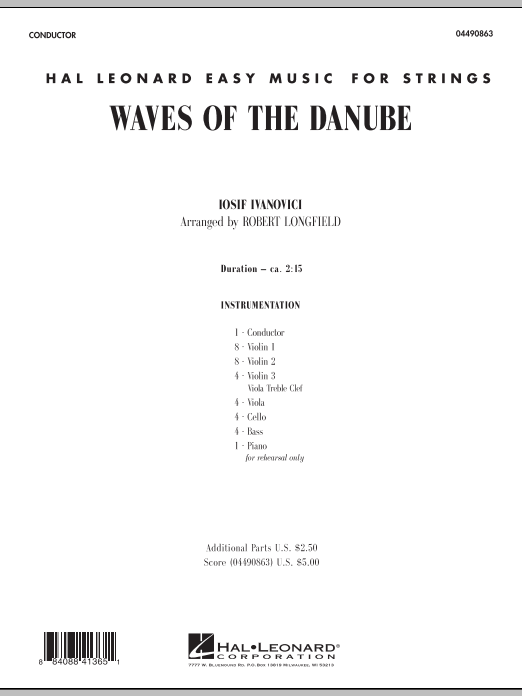 Waves of the Danube (COMPLETE) sheet music for orchestra by Robert Longfield