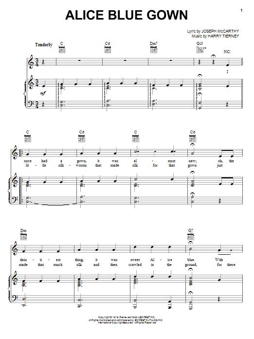 Sheet Music Digital Files To Print - Licensed Harry Tierney Digital ...