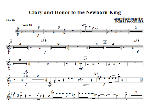 Glory And Honor To The Newborn King (COMPLETE) sheet music for orchestra/band (chamber ensemble) by Robert DeCormier