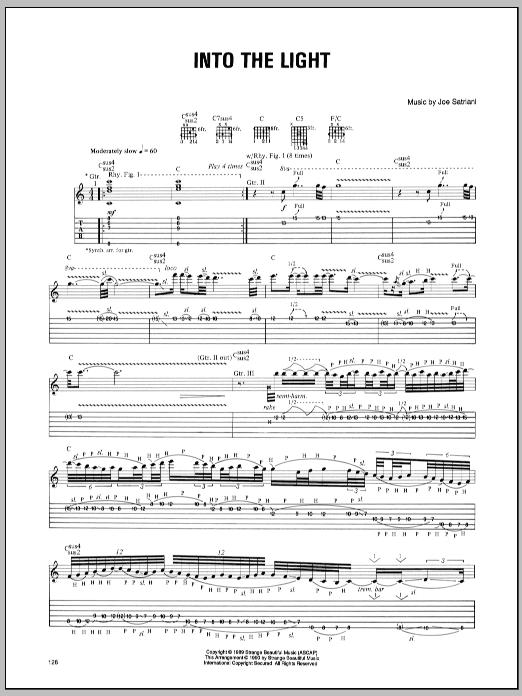 Tablature guitare Into The Light de Joe Satriani - Tablature Guitare