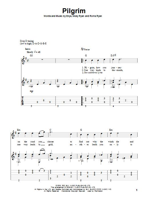 Tablature guitare Pilgrim de Enya - Tablature Guitare