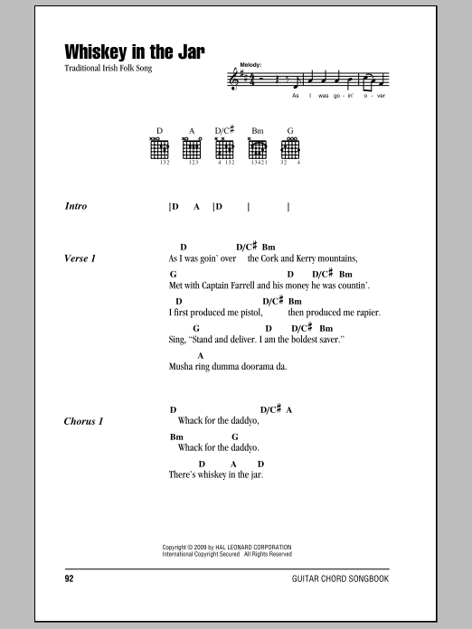 Mandolin mandolin chords whiskey in the jar : Sheet Music Digital Files To Print - Licensed Traditional Irish ...