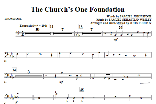 The church s one foundation trombone sheet music direct