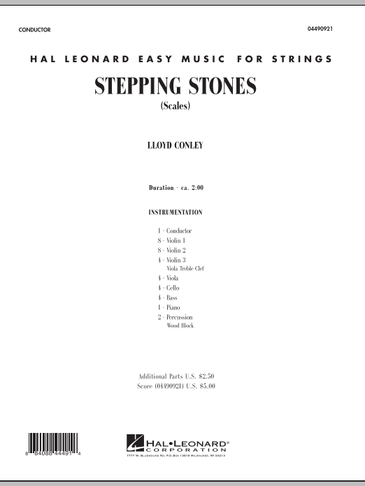 Stepping Stones (COMPLETE) sheet music for orchestra by Lloyd Conley