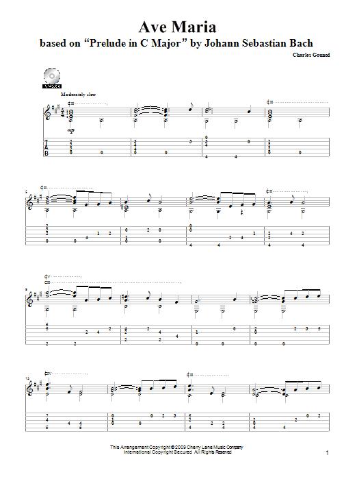 Tablature guitare Ave Maria de Charles Gounod - Tablature Guitare
