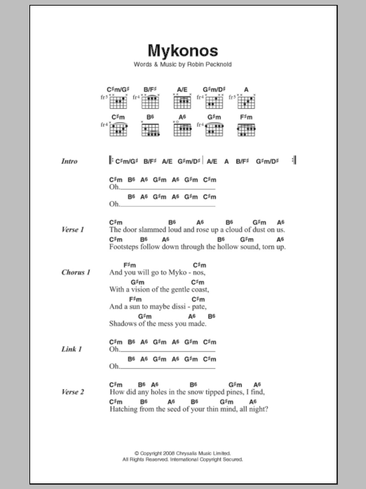 Sheet Music Digital Files To Print Licensed Fleet Foxes Digital