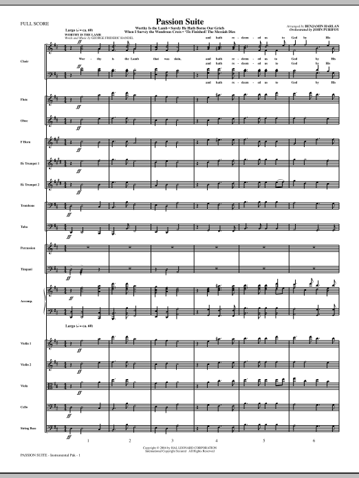 Passion Suite (COMPLETE) sheet music for orchestra by Benjamin Harlan