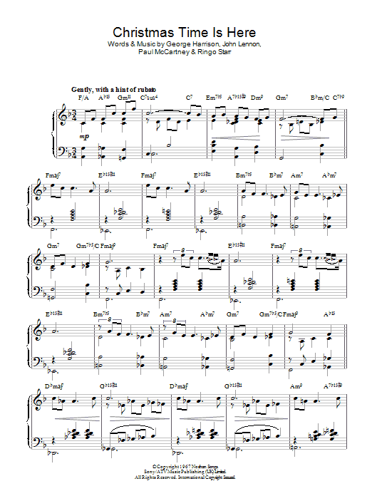 The Beatles - Christmas Time (Is Here Again) - Sheet Music at ...