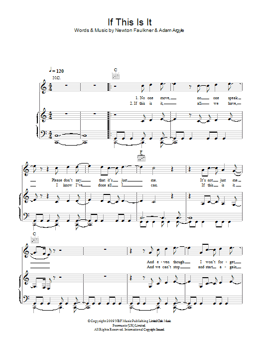 If This Is It sheet music for voice, piano or guitar by Adam Argyle