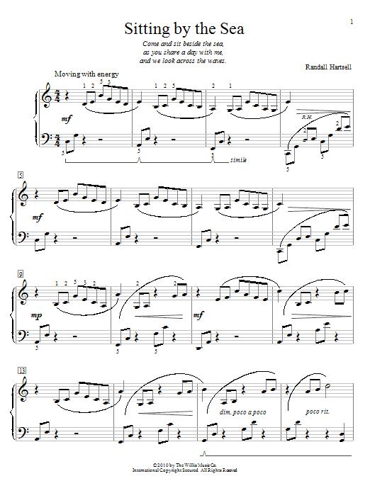 Partition piano Sitting By The Sea de Randall Hartsell - Piano Facile