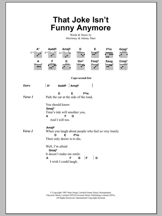 that joke isnt funny anymore sheet music direct