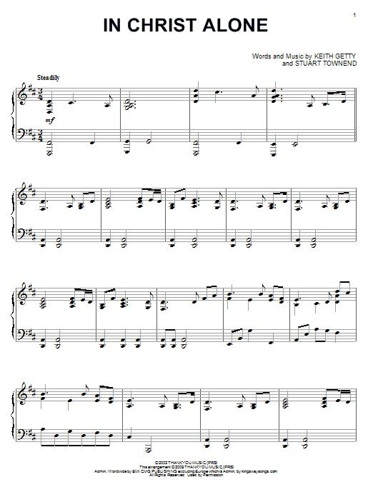 Sheet Music Digital Files To Print - Licensed Keith Getty Digital ...
