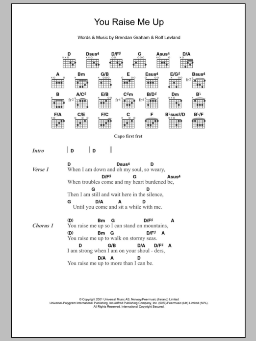 Up Guitar Chords
