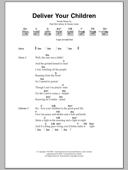 Sheet Music Digital Files To Print Licensed Denny Laine Digital