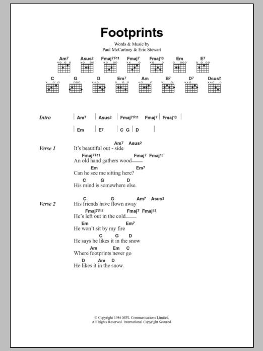 Sheet Music Digital Files To Print - Licensed Eric Stewart Digital ...
