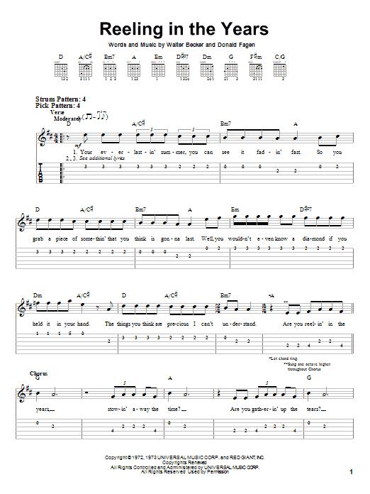 Tablature guitare Reeling In The Years de Steely Dan - Tablature guitare facile