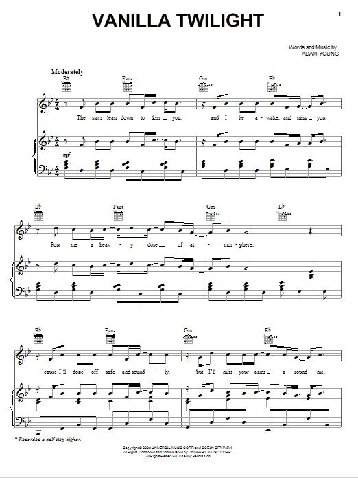 Vanilla Twilight : Sheet Music Direct