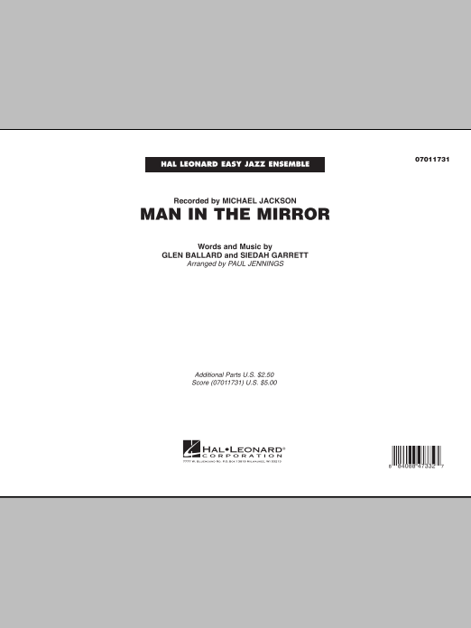 Man In The Mirror (COMPLETE) sheet music for jazz band by Paul Jennings