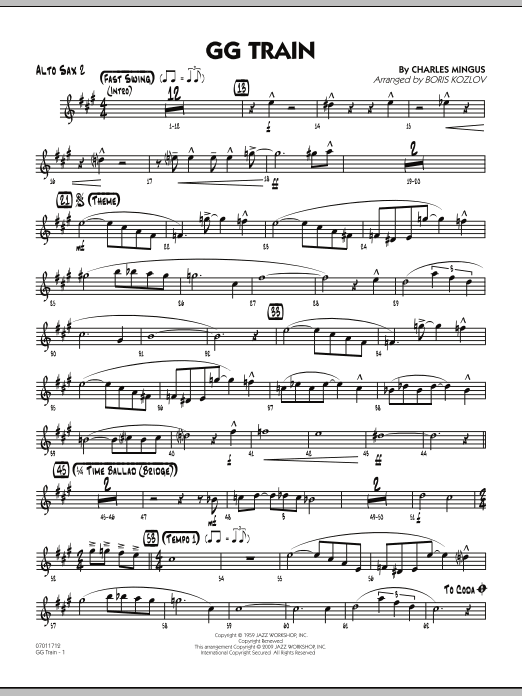 take the a train alto sax pdf