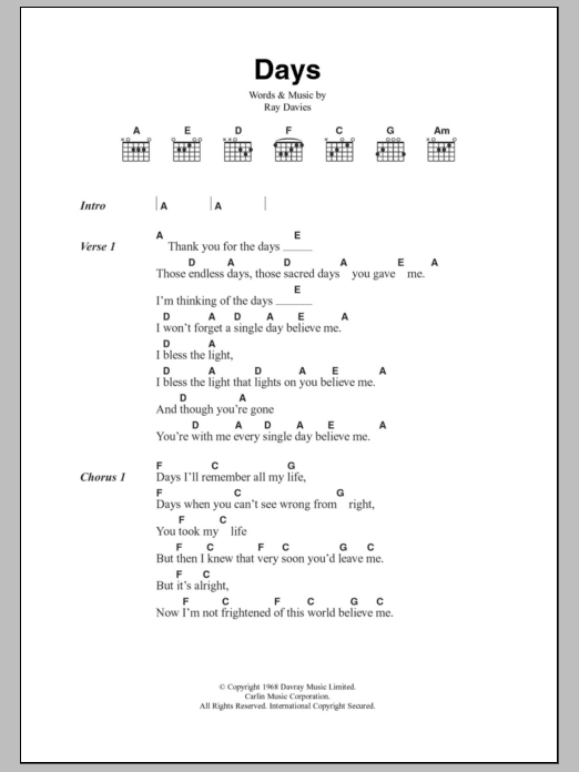 Lola Chords by The Kinks | Songsterr Tabs with Rhythm