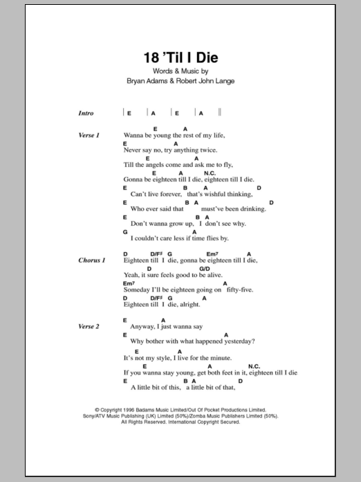 Sheet Music Digital Files To Print - Licensed Rock Digital Sheet Music