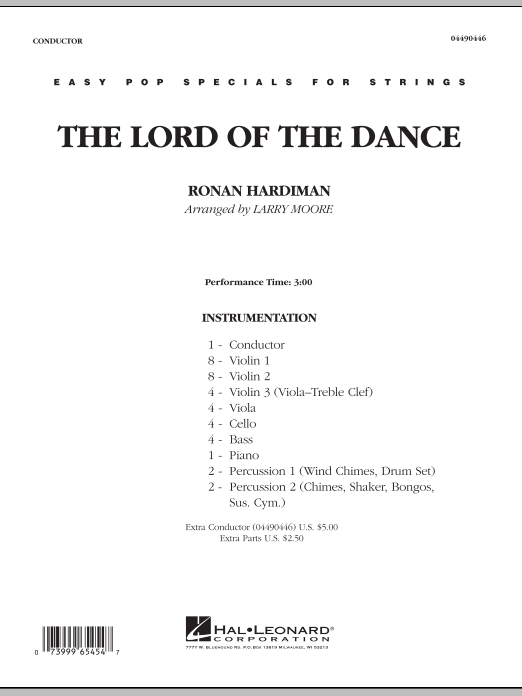 Lord Of The Dance (COMPLETE) sheet music for orchestra by Larry Moore
