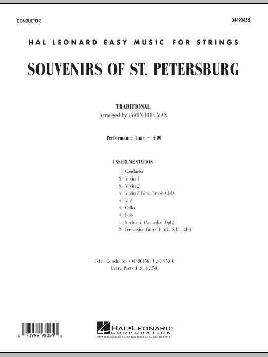 Souvenirs Of St. Petersburg (COMPLETE) sheet music for orchestra by Jamin Hoffman
